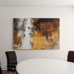 Brown Yellow Abstract Art Painting Canvas Art Wall Decor