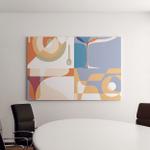 Set Backgrounds Menu Silhouettes Glasses Plate Canvas Art Wall Decor