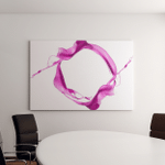 Shot Purple Paint Splash Isolated On Canvas Art Wall Decor