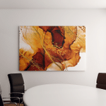 Exotic Art Golden Swirl Artistic Design Canvas Art Wall Decor