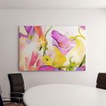 Colorful Fantastic Flowers Watercolor On Paper Canvas Art Wall Decor