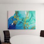Exotic Art Golden Swirl Artistic Design Canvas Art Wall Decor