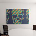 Conceptual Background Skulls Canvas Art Wall Decor