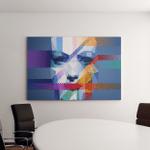 Creative Concept Face Eps10 Vector Canvas Art Wall Decor