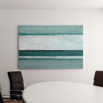 Teal Grey Abstract Art Painting Canvas Art Wall Decor