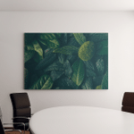 Creative Layout Made Green Leaves Flat Canvas Art Wall Decor