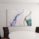 Alcohol Abstract Sky Color White Stains Canvas Art Wall Decor