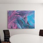 Tropical Palm Leaves Vibrant Bold Gradient Canvas Art Wall Decor