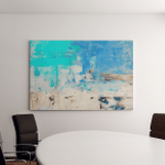 Turquoise Blue Abstract Art Painting Canvas Art Wall Decor