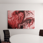 Very Beautiful Red Marble Pattern Abstract Canvas Art Wall Decor