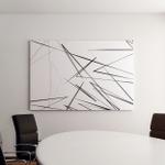 Geometric Art Random Chaotic Lines Abstract Canvas Art Wall Decor
