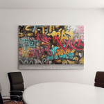 Graffiti On Wall Contains Transparency Blending Canvas Art Wall Decor