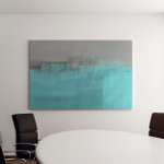 Grey Turquoise Abstract Art Painting Canvas Art Wall Decor