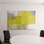 Grey Yellow Abstract Art Painting Canvas Art Wall Decor
