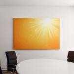 Summer Template Hot Sun Rays Burst Canvas Art Wall Decor