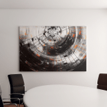 Music Notes Silhouette Speaker Space Stars Canvas Art Wall Decor