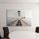 Surreal Enigmatic Picture On Canvas Canvas Art Wall Decor
