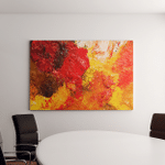 Oil Paints Multicolored Closeup Abstract Background Canvas Art Wall Decor