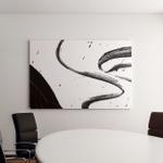 Texture Background Splash Black Ink Canvas Art Wall Decor