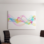 Original Abstract Colorful Background Canvas Art Wall Decor
