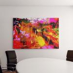 Nice Large Scale Oil On Cloth Canvas Art Wall Decor