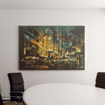 Night Scene Cityscapeabstract Art Paintingillustration Canvas Art Wall Decor