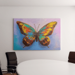 Oil Painting Beautiful Butterfly Canvas Art Wall Decor