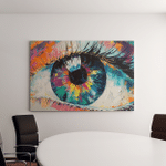 Oil Painting Conceptual Abstract Picture Eye Canvas Art Wall Decor