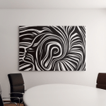 Inner Geometry Series Background Design Human Canvas Art Wall Decor