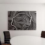 Inner Geometry Series Design Composed Human Canvas Art Wall Decor