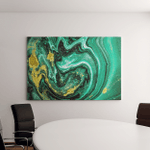 Trendy Nature Marble Pattern Abstract Green Canvas Art Wall Decor