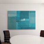 Turquoise Abstract Art Painting Canvas Art Wall Decor