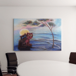 Two Cats Under Tree Canvas Art Wall Decor
