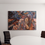Jazz Singer Club Bandoil Painting Artist Canvas Art Wall Decor