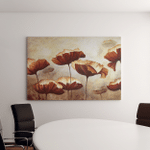 Painting Poppies Texture Canvas Art Wall Decor
