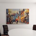 Oil Painting On Canvas European City Canvas Art Wall Decor