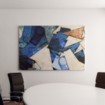 Panoramic Abstract Geometric Painting Style Picasso Canvas Art Wall Decor