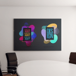 Vector Frame Art Graphics Hipsters Dynamic Canvas Art Wall Decor