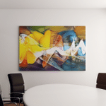 Panoramic Fine Art Bright Abstraction Designed Canvas Art Wall Decor