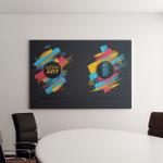 Vector Frame Text Modern Art Graphics Canvas Art Wall Decor