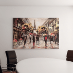 Oil Painting On Canvas Street View Canvas Art Wall Decor