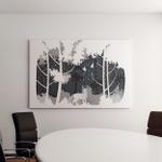 Vector Illustration Deer Winter Forest Design Canvas Art Wall Decor