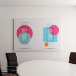 Vector Illustration Minimalistic Hipster Colored Frame Canvas Art Wall Decor