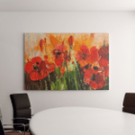 Poppy Field Big Red Flowers Painting Canvas Art Wall Decor