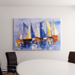 Oil Painting Sailing Boat Canvas Art Wall Decor