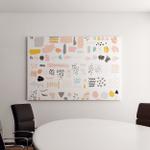 Vector Set Brush Strokes Abstract Elements Canvas Art Wall Decor