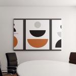 Minimalist Geometrical Abstract Art Mid Century Canvas Art Wall Decor