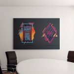Vector Set Frame Text Modern Art Canvas Art Wall Decor