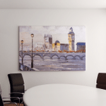 Oil Painting Street View London Canvas Art Wall Decor