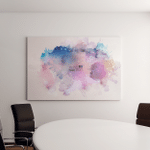 Watercolor Stains Canvas Art Wall Decor